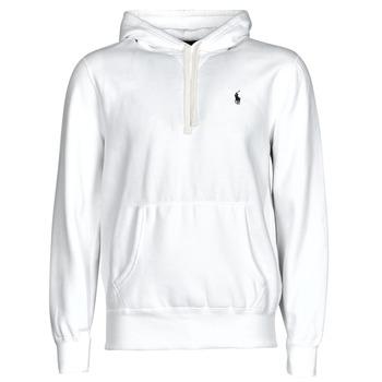 textil Herre Sweatshirts Polo Ralph Lauren SWEAT A CAPUCHE MOLTONE EN COTON LOGO PONY PLAYER Hvid