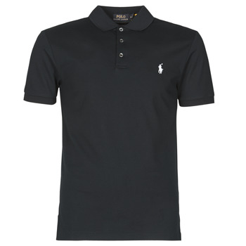 textil Herre Polo-t-shirts m. korte ærmer Polo Ralph Lauren POLO CINTRE SLIM FIT EN COTON STRETCH MESH LOGO PONY PLAYER Sort