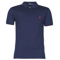 textil Herre Polo-t-shirts m. korte ærmer Polo Ralph Lauren POLO CINTRE SLIM FIT EN COTON STRETCH MESH LOGO PONY PLAYER Marineblå