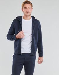 textil Herre Sweatshirts Polo Ralph Lauren SWEATSHIRT A CAPUCHE ZIPPE EN JOGGING DOUBLE KNIT TECH LOGO PONY Marineblå