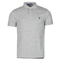 textil Herre Polo-t-shirts m. korte ærmer Polo Ralph Lauren POLO AJUSTE DROIT EN COTON BASIC MESH LOGO PONY PLAYER Grå