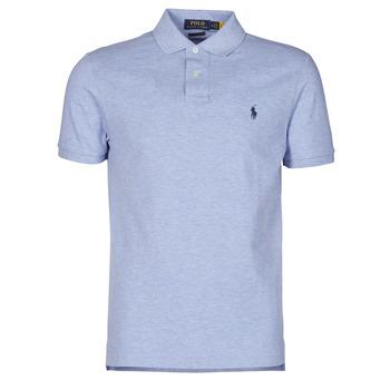 textil Herre Polo-t-shirts m. korte ærmer Polo Ralph Lauren POLO AJUSTE DROIT EN COTON BASIC MESH LOGO PONY PLAYER Blå / Jamaica / Lyng