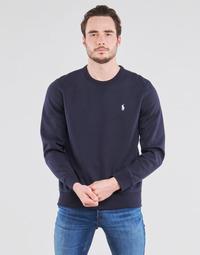 textil Herre Sweatshirts Polo Ralph Lauren SWEATSHIRT COL ROND EN JOGGING DOUBLE KNIT TECH LOGO PONY PLAYER Blå / Marineblå