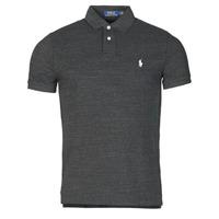 textil Herre Polo-t-shirts m. korte ærmer Polo Ralph Lauren POLO AJUSTE DROIT EN COTON BASIC MESH LOGO PONY PLAYER Sort