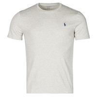 textil Herre T-shirts m. korte ærmer Polo Ralph Lauren T-SHIRT AJUSTE COL ROND EN COTON LOGO PONY PLAYER Grå