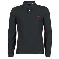 textil Herre Polo-t-shirts m. lange ærmer Polo Ralph Lauren POLO AJUSTE DROIT EN COTON BASIC MESH LOGO PONY PLAYER Sort
