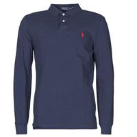 textil Herre Polo-t-shirts m. lange ærmer Polo Ralph Lauren POLO AJUSTE DROIT EN COTON BASIC MESH LOGO PONY PLAYER Marineblå