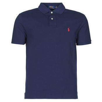 textil Herre Polo-t-shirts m. korte ærmer Polo Ralph Lauren POLO AJUSTE DROIT EN COTON BASIC MESH LOGO PONY PLAYER Marineblå