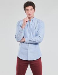 textil Herre Skjorter m. lange ærmer Polo Ralph Lauren LORENZ Blå
