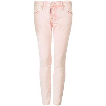 textil Dame Lærredsbukser Dsquared  Pink