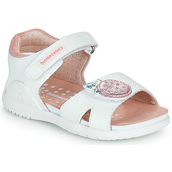 Sko Pige Sandaler Biomecanics 212163 Hvid / Pink