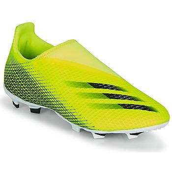 Sko Børn Fodboldstøvler adidas Performance X GHOSTED.3 LL FG J Gul / Sort