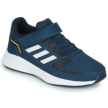 Sko Børn Lave sneakers adidas Performance RUNFALCON 2.0 C Marineblå / Hvid