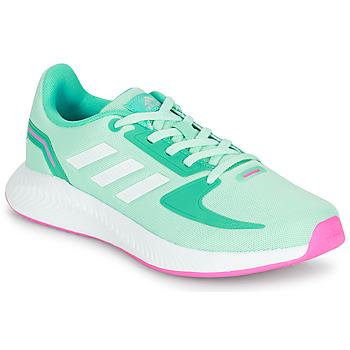 Sko Pige Lave sneakers adidas Performance RUNFALCON 2.0 K Turkis / Pink