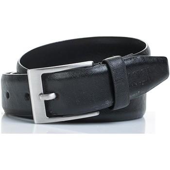 Accessories Bælter Jaslen signatur ægte læder læder unisex bælte Sort