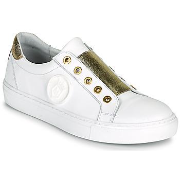 Sko Dame Lave sneakers Myma PAGGI Hvid / Gylden