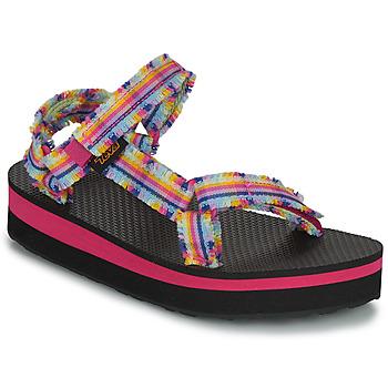 Sko Pige Sandaler Teva C MIDFORM FRAY Pink / Flerfarvet