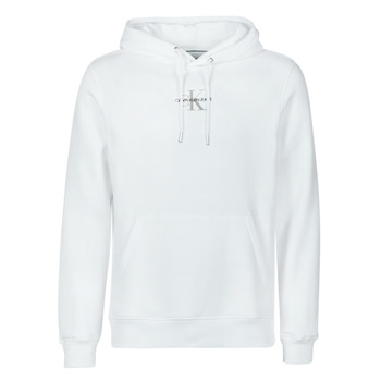 textil Herre Sweatshirts Calvin Klein Jeans NEW ICONIC ESSENTIAL HOODIE Hvid