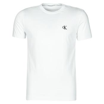 textil Herre T-shirts m. korte ærmer Calvin Klein Jeans YAF Hvid
