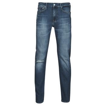 textil Herre Lige jeans Calvin Klein Jeans SLIM TAPER Blå / Medium
