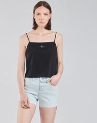 textil Dame Toppe / Bluser Calvin Klein Jeans MONOGRAM CAMI TOP Sort