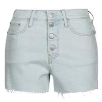 textil Dame Shorts Calvin Klein Jeans HIGH RISE SHORT Blå / Lys