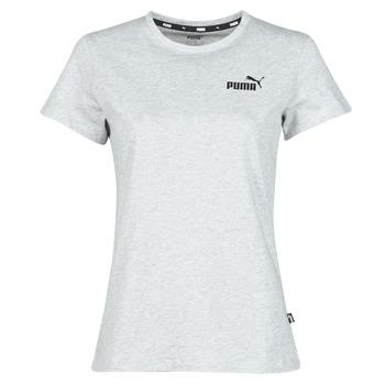textil Dame T-shirts m. korte ærmer Puma ESS LOGO TEE Grå / Marmoreret
