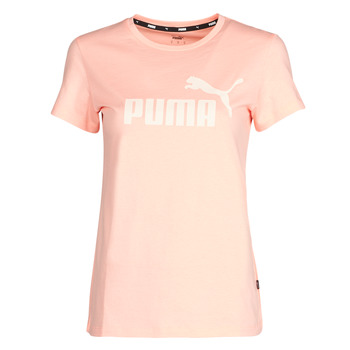 textil Dame T-shirts m. korte ærmer Puma ESS Logo Tee (s) Abrikos