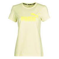 textil Dame T-shirts m. korte ærmer Puma ESS Logo Tee (s) Gul