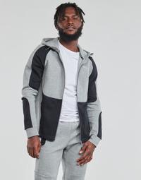 textil Herre Sweatshirts Puma EVOSTRIPE FZ HOODY Grå / Sort