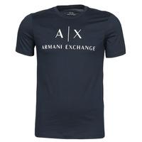 textil Herre T-shirts m. korte ærmer Armani Exchange 8NZTCJ-Z8H4Z Marineblå