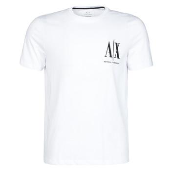textil Herre T-shirts m. korte ærmer Armani Exchange 8NZTPH-ZJH4Z Hvid