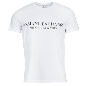 textil Herre T-shirts m. korte ærmer Armani Exchange 8NZT72-Z8H4Z Hvid