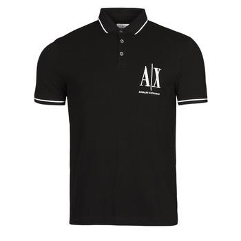 textil Herre Polo-t-shirts m. korte ærmer Armani Exchange 8NZFPA-Z8M5Z Sort