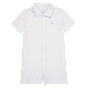 textil Dreng Buksedragter / Overalls Polo Ralph Lauren TONNY Hvid