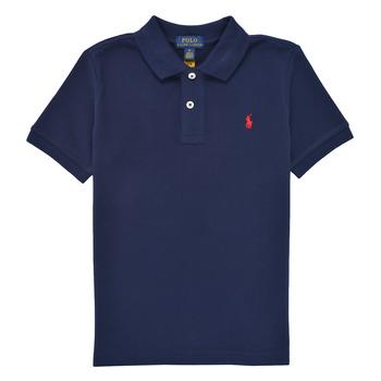 textil Dreng Polo-t-shirts m. korte ærmer Polo Ralph Lauren TUSSA Marineblå