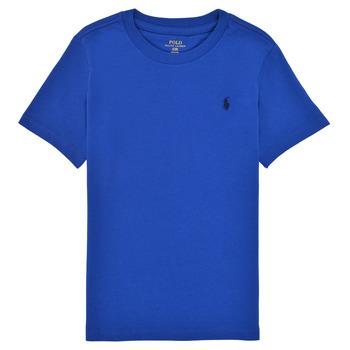 textil Dreng T-shirts m. korte ærmer Polo Ralph Lauren ELIVA Blå / Safir