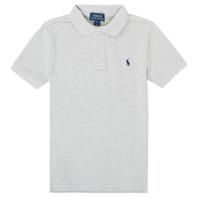 textil Dreng Polo-t-shirts m. korte ærmer Polo Ralph Lauren FRANCHI Grå