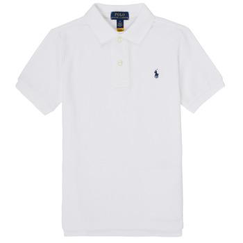 textil Dreng Polo-t-shirts m. korte ærmer Polo Ralph Lauren MENCHI Hvid