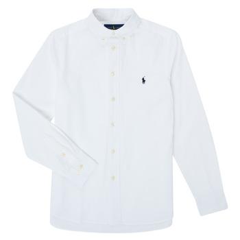 textil Dreng Skjorter m. lange ærmer Polo Ralph Lauren CAMIZA Hvid