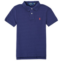textil Dreng Polo-t-shirts m. korte ærmer Polo Ralph Lauren FRANCHI Blå