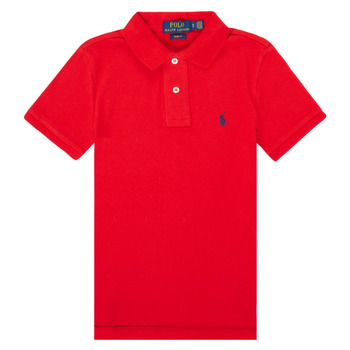 textil Dreng Polo-t-shirts m. korte ærmer Polo Ralph Lauren FRANCHI Rød