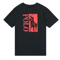 textil Dreng T-shirts m. korte ærmer Polo Ralph Lauren CROPI Sort