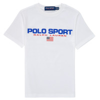 textil Dreng T-shirts m. korte ærmer Polo Ralph Lauren DRONI Hvid