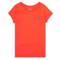 textil Pige T-shirts m. korte ærmer Polo Ralph Lauren SIDONIE Rød