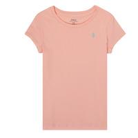 textil Pige T-shirts m. korte ærmer Polo Ralph Lauren SIDONIE Pink