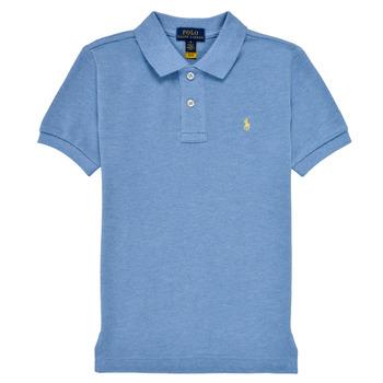 textil Dreng Polo-t-shirts m. korte ærmer Polo Ralph Lauren BLEUNI Blå