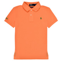 textil Dreng Polo-t-shirts m. korte ærmer Polo Ralph Lauren POLLIE Orange