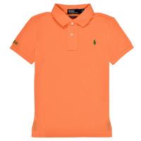 textil Dreng Polo-t-shirts m. korte ærmer Polo Ralph Lauren POLLIE Orange