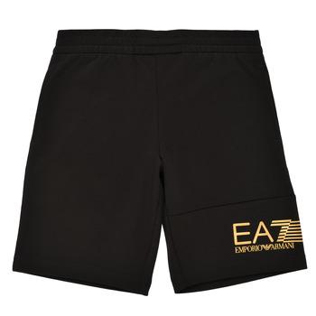textil Dreng Shorts Emporio Armani EA7 3KBS53-BJ05Z-1200 Sort / Guld